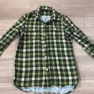 5/$25 • Gap Kids • Lined Flannel Button Down